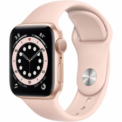 Apple Watch Serie 6 Gps 40 Mm Pink Sport Band Aluminium Gold